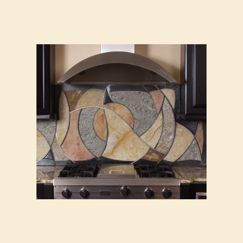 Circles and Waves Backsplash
