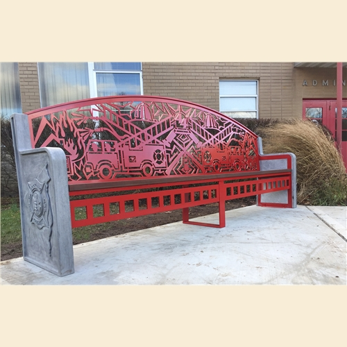 Rockland Fire Training Center Art Benches