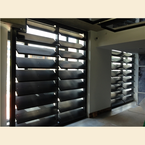 Lobby Window Louvers