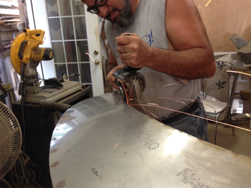 Welding and Cutting for Anahata Sculpture